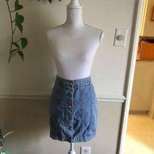 Cheap Monday Sz M Button Up Denim Skirt